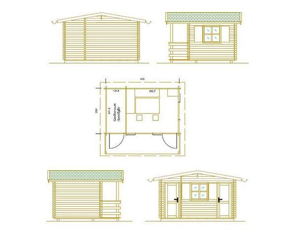Gartenhaus mit Abstellraum